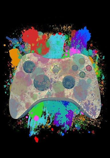 Painted Xbox 360 Controller by Colossal