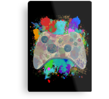 Painted Xbox 360 Controller Metal Print