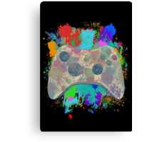 Painted Xbox 360 Controller Canvas Print