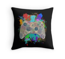 Painted Xbox 360 Controller Throw Pillow