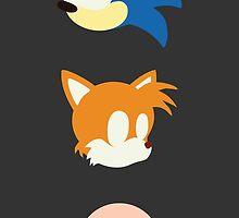 Minimalist Sonic Heads by MoleFole