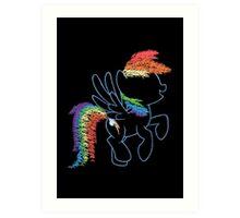 Sprayed Rainbow Dash Art Print