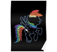 Sprayed Rainbow Dash Poster