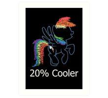 Sprayed Rainbow Dash (20% Cooler) Art Print