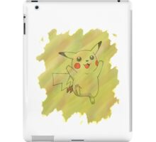 Watercolour Pikachu iPad Case/Skin