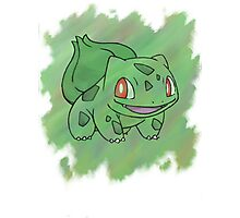Watercolour Bulbasaur Photographic Print