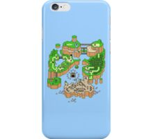 Super mario world map iPhone Case/Skin