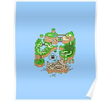 Super mario world map Poster