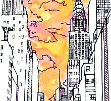 New York Sunrise by ElinaDiaz