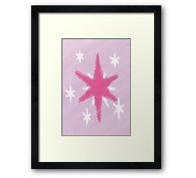 Watercolour Twilight Sparkle Cutie Mark Framed Print