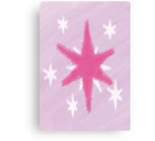Watercolour Twilight Sparkle Cutie Mark Canvas Print