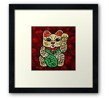 'Shiny Lucky Cat' Framed Print