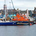 Lifeboat on Board, Stornoway Harbour, Western Isles, Scotland by BlueMoonRose