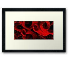 red rings of mercury Framed Print