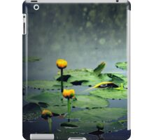 lily pads in the rain at Vernonia Lake iPad Case/Skin
