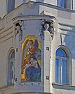 Mural and statues, Budapest, Hungary by Margaret  Hyde