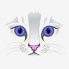Cute White Kitty Cat Prints / iPhone Case / iPad Case / Samsung Cases  / Pillow / Tote Bag / Duvet  by CroDesign