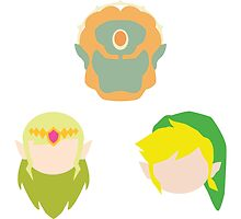 Legend of Zelda Characters by MoleFole