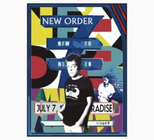 New order paradise garage NY 1983 gig design by Shaina Karasik