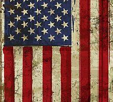 America Grunge Flag iPad / iPhone 5 Case / Samsung Galaxy Case / Tote Bag / Pillow / Print  / T-Shirt  / Duvet  by CroDesign