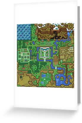 The Legend of Zelda: A Link to the Past Map by navigata