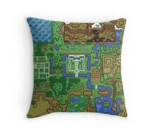 The Legend of Zelda: A Link to the Past Map Throw Pillow