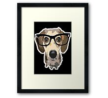 listen good doggy Framed Print