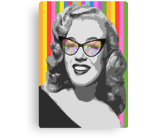 Marilyn Monroe in color glasses Canvas Print