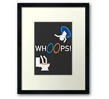 Whoops! Framed Print