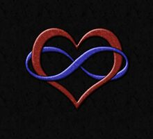 Polyamorous Pride Infinity Heart by LiveLoudGraphic