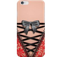 Female Back Black Vintage Damask Lace Corset Lingerie  iPhone Case / Samsung Galaxy Case /  Throw Pillow / Tote Bag / Duvet Cover / iPad Case iPhone Case/Skin
