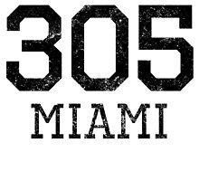 Distressed Miami 305 Area Code by kwg2200