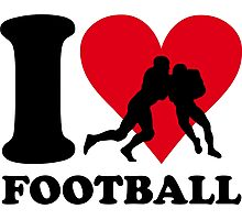 I love Football Photographic Print