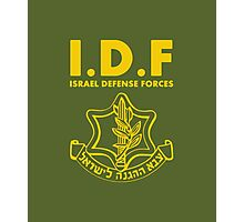 IDF Israel Defense Forces - with Symbol - ENG Photographic Print