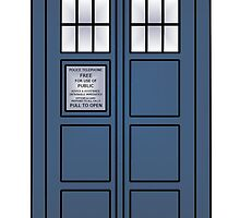 Doctor Who Tardis doors by Owlmail