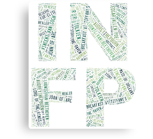 INFP Word Cloud Canvas Print