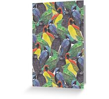 Birds Birds Birds Greeting Card