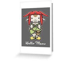 Hello Meow Greeting Card
