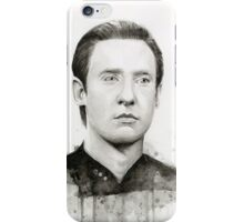 Data Star Trek Portrait Watercolor iPhone Case/Skin