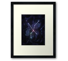 The Royal Lunar Star Constellation Framed Print