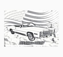 1975 Cadillac Eldorado Convertible Illustration Kids Clothes