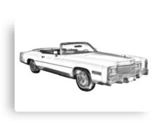 1975 Cadillac Eldorado Convertible Illustration Metal Print