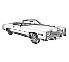 1975 Cadillac Eldorado Convertible Illustration Photographic Print