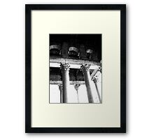 corinthian capitals Framed Print