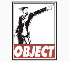 Phoenix Wright Object Obey Design T-Shirt
