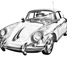 1962  Porsche 356 E Illustration by KWJphotoart