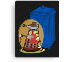 Daleks in Disguise - Fourth Doctor Canvas Print