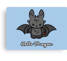 Hello Dragon Canvas Print