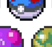 Frist Gen Pokeballs Sticker