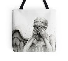 Doctor Who Weeping Angel - Don't Blink! Tote Bag
